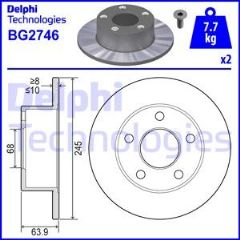 Brake Discs Rear 245x10mm 2 Wheel Drive Models (Priced Per Pair)